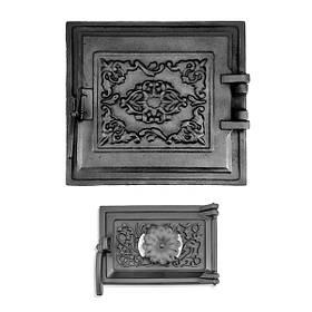 Дверцы для печи 330х360мм, чугунные печные дверки 102852К