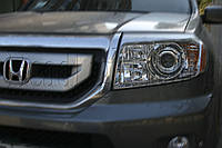 Honda Pilot - установка биксеноновых линз Moonlight SUPER G5 2,5""