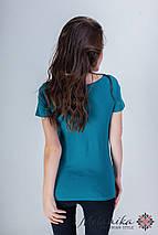 Оригинальная женская вышитая футболка на каждый день «Лилия», фото 3
