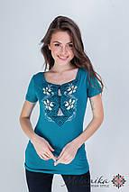 Оригинальная женская вышитая футболка на каждый день «Лилия», фото 2