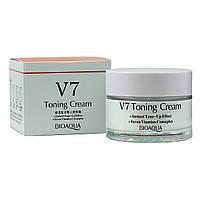 Крем для лица отбеливающий Bioaqua V7 Toning Cream (примятая упаковка)