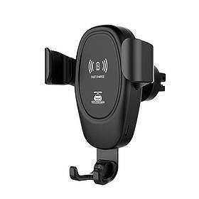Holder D12 Micro USB с беспроводной зарядкой держатель для телефона в авто