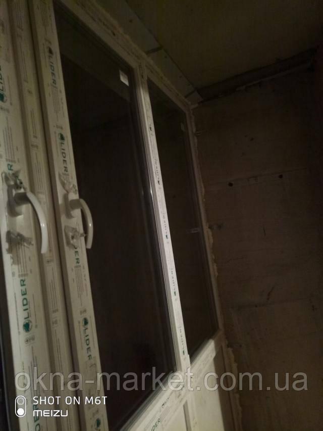 Дешеві вікна Лідер на лоджію від компанії Вікна Маркет