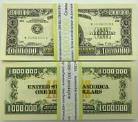 Деньги сувенирные миллион долларов - 80 шт, фото 1
