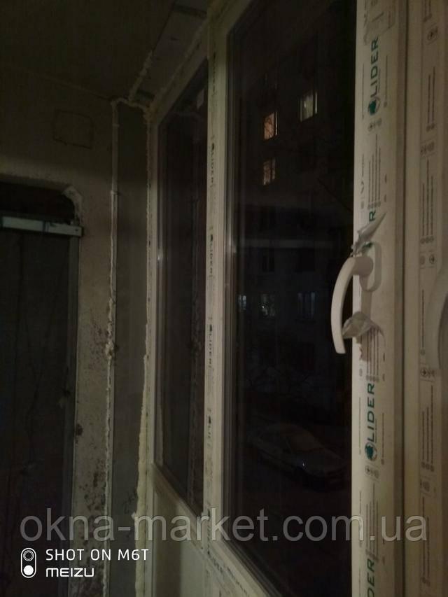 Окна Лидер на лоджию фото Окна Маркет™