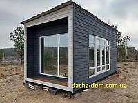 Дачный деревянный садовый домик 6*3