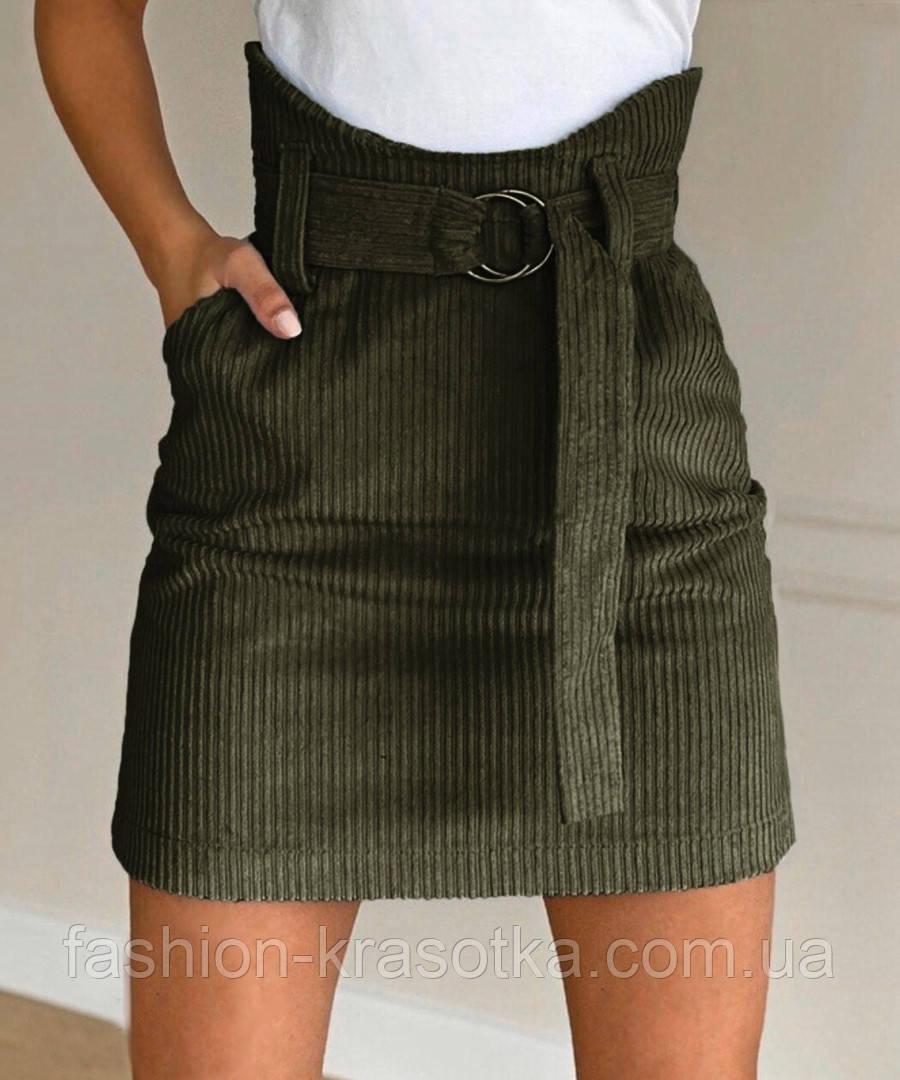 Модная  вельветовая мини юбка,размеры:42,44,46.