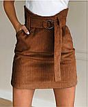 Модная  вельветовая мини юбка,размеры:42,44,46., фото 2
