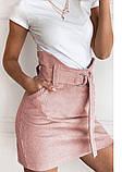 Модная  вельветовая мини юбка,размеры:42,44,46., фото 3