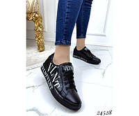 Кожаные кеды VLNT на шнуровке, фото 1
