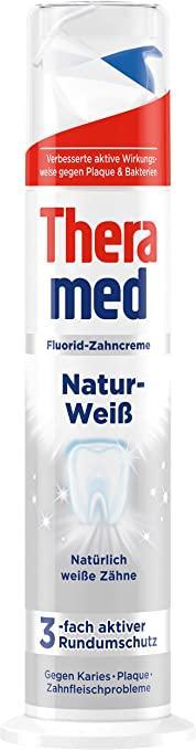 Зубна паста з дозатором відбілююча 100 мл Theramed Weib