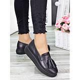Женские туфли лоферы черная кожа 7279-28, фото 2