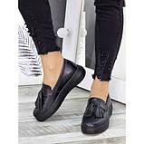 Женские туфли лоферы черная кожа 7279-28, фото 5