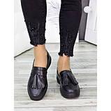 Женские туфли лоферы черная кожа 7279-28, фото 4