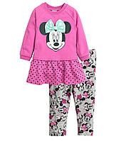 """Детский комплект для девочки """"Минни Маус""""  6-9 месяцев, 1,5-2 года"""