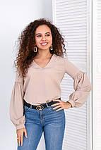 """Блуза с объемным рукавом """"Adel"""", фото 2"""