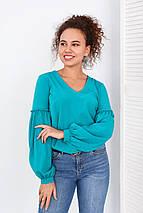 """Блуза с объемным рукавом """"Adel"""", фото 3"""