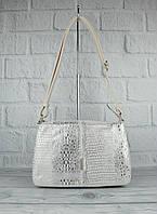 Мягкая, вместительная женская сумка Gilda Tohetti 60488-020 бежевая с серебристым напылением, фото 1