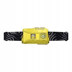 Фонарь налобный Nitecore NU25 со встроенным аккумулятором 610mAh от USB желтый