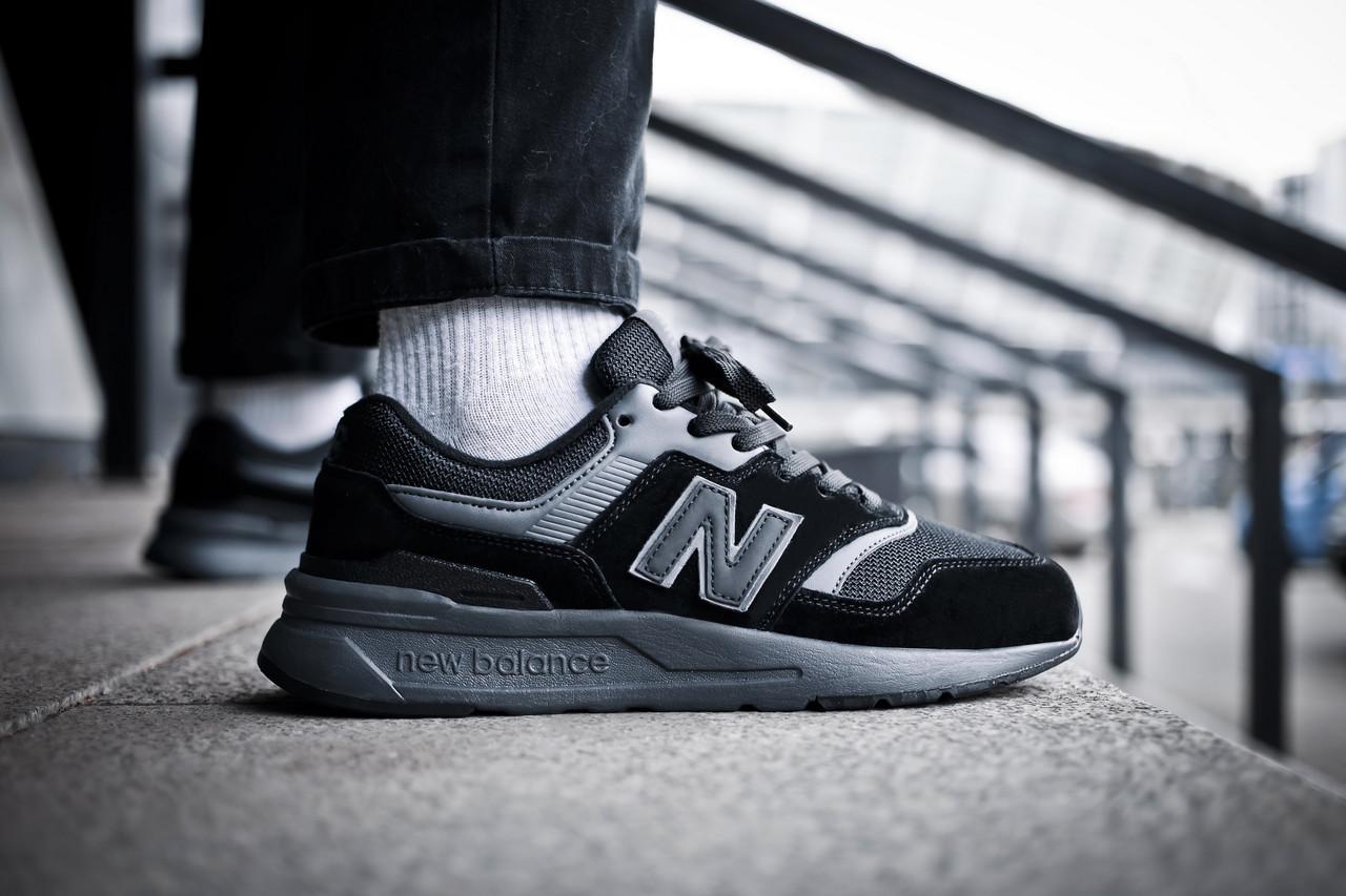 Мужские кроссовки  New Balance 997 Triple Black ( Реплика )
