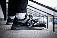 Мужские кроссовки  New Balance 997 Triple Black ( Реплика ) Остался 43 размер