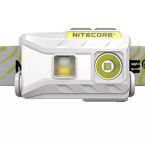 Фонарь налобный Nitecore NU25 со встроенным аккумулятором 610mAh от USB белый