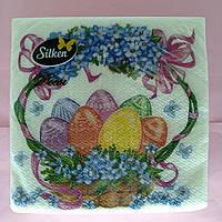 Салфетки пасхальные бумажные Silken Корзина 2 слоя 16 штук