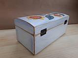 Деревяна шкатулка для прикрас ручної роботи, фото 4