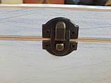 Деревяна шкатулка для прикрас ручної роботи, фото 5