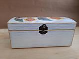 Деревяна шкатулка для прикрас ручної роботи, фото 6