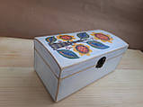 Деревяна шкатулка для прикрас ручної роботи, фото 2