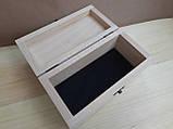 Деревяна шкатулка для прикрас ручної роботи, фото 7