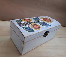 Деревяна шкатулка для прикрас ручної роботи