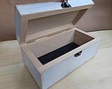 Деревяна шкатулка для прикрас ручної роботи, фото 9