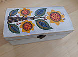 Деревяна шкатулка для прикрас ручної роботи, фото 3