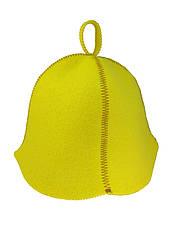 Шапка желтая без вышивки, искусственный цветной фетр,  Saunapro