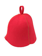 Шапка красная без вышивки, искусственный цветной фетр,  Saunapro