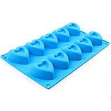 Силиконовая форма  Сердечки 10 шт, фото 2