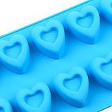 Силиконовая форма  Сердечки 10 шт, фото 5