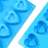 Силиконовая форма  Сердечки 10 шт, фото 4