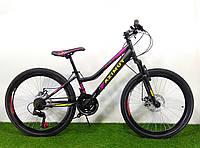 Горный велосипед женский Azimut Pixel 26 D черно-розовый