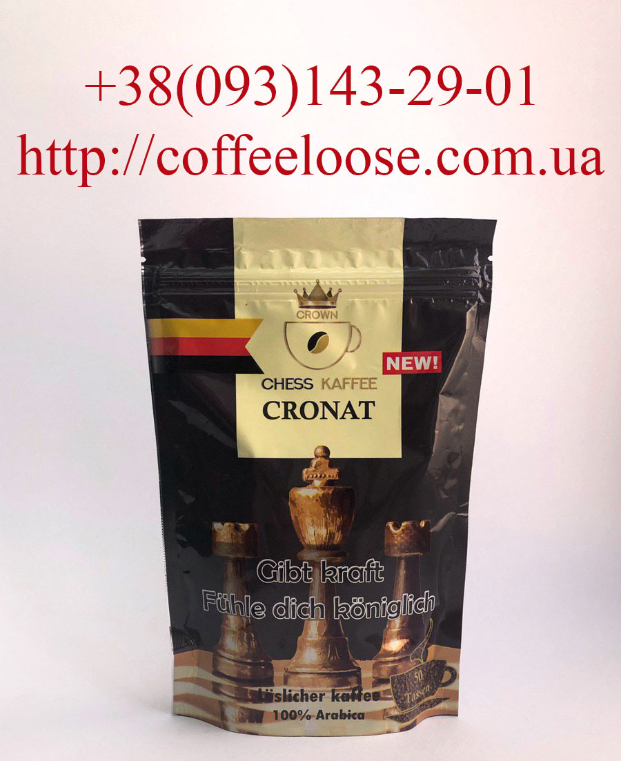Кава Crown Chess Kaffee Cronat розчинний 100g Економ Пакет. Кава Кровн Чесс Кафе Кронат розчинна 100г.