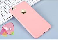 Чехол для iPhone 5/5s SE силиконовый матовый пудра