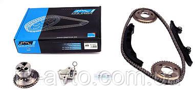 Комплект ланцюга ГРМ Ford Transit 2.2 TDCi 06- (ланцюг, натягувач, шестірня) z=122