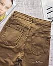 Джинсы женские скинни skinny с высокой посадкой цвета кэмел, фото 4