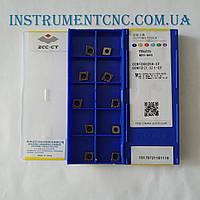 ZCC-CT CCMT060204-EF YBG205 сменная твердосплавная пластина по металлу; Ромбическая 80°; чистовая
