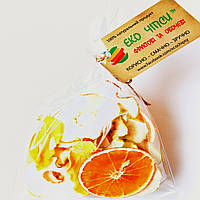 Фруктові чіпси з яблук-20, апельсин-6 і манго-4, суміш 30 грам, фото 1