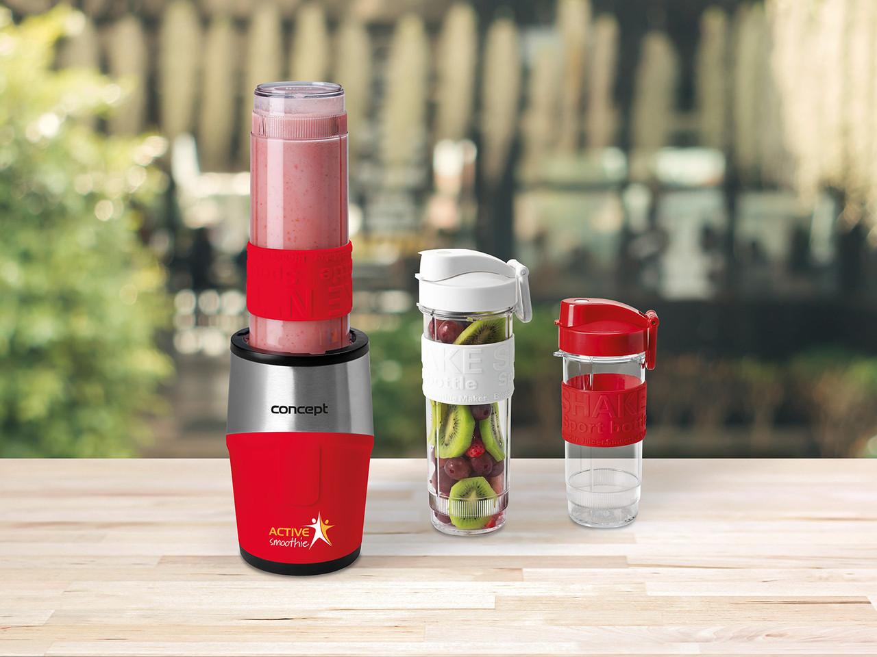 Блендер Concept SM-3386 с удобными бутылочками шейк, коктейль, смузи red