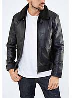 Кожаная куртка Selected 16059531 L (75806L) Черный