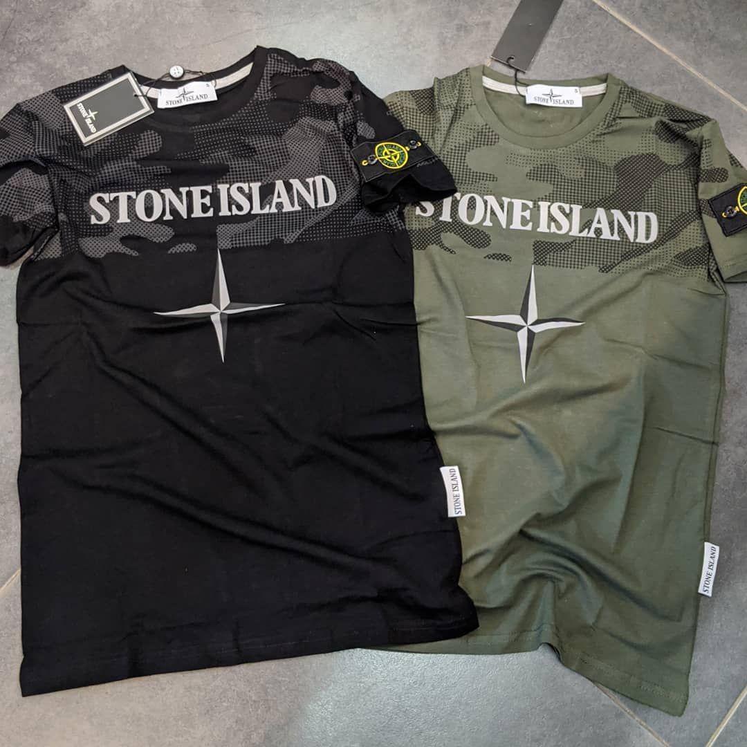Мужская футболка Stone Island CK19 хаки